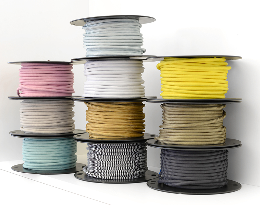 Textile cable on bobbin