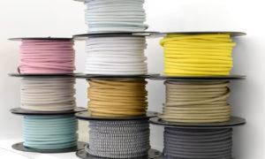Textilkabel på bobin